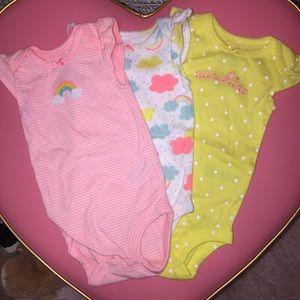 Carter's One Pieces - 3 Carter's onesies